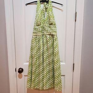 Robbie Bee Polka Dot Retro Inspired Halter Dress